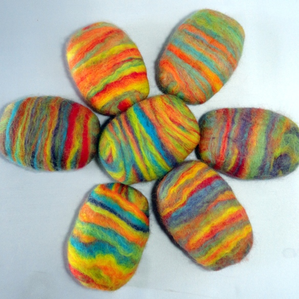Brightly-Colored-Felted-Soap
