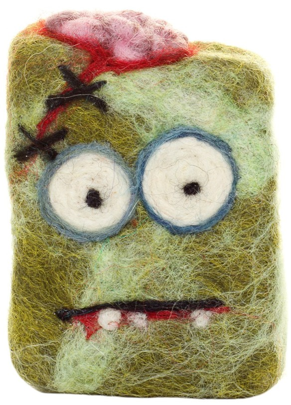 zombie_ate_my_brains_felted_soap_1