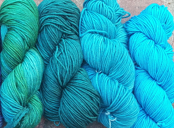 ella coat palette partial greens and turquoise