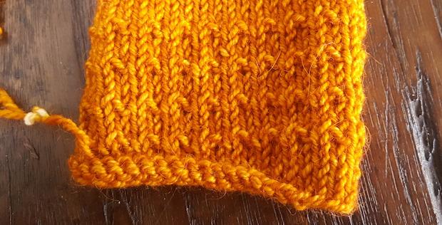 Pumpkin stitch pattern